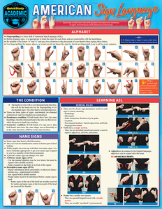 Quick Study QuickStudy American Sign Language Laminated Study Guide BarCharts Publishing Foreign Language Reference Cover Image