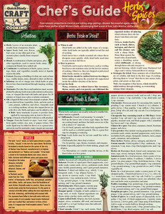 Quick Study QuickStudy Chef's Guide to Herbs & Spices Laminated Reference Guide BarCharts Publishing Culinary Reference Outline Cover Image