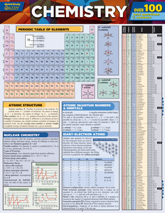 Quick Study QuickStudy Chemistry Quizzer Laminated Study Guide BarCharts Publishing Academic Guide Cover Image