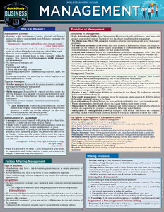 Quick Study QuickStudy Management Laminated Reference Guide BarCharts Publishing Business Leadership Outline Cover Image