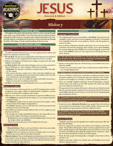 Quick Study QuickStudy Jesus: Historical & Biblical Laminated Study Guide BarCharts Publishing Religion Reference Cover Image