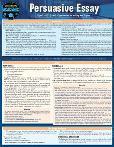 QuickStudy | Persuasive Essay Laminated Study Guide