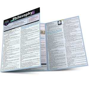 Quick Study QuickStudy Philosophy Laminated Study Guide BarCharts Publishing Social Study Reference Main Image
