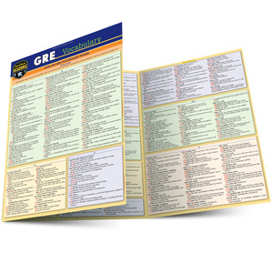 Quick Study QuickStudy GRE Vocabulary Laminated Study Guide BarCharts Publishing Education Reference Main Image