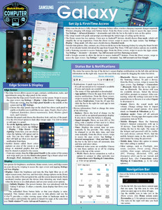 Quick Study QuickStudy Samsung Galaxy: Set Up & First-Time Access Laminated Reference Guide BarCharts Publishing Mobile Operating System (OS) Outline Cover Image