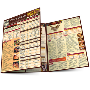 Quick Study QuickStudy Chef's Guide to Meat, Seafood & Poultry Laminated Reference Guide BarCharts Publishing Culinary Reference Outline Main Image