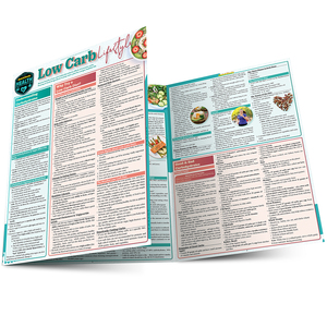 Quick Study QuickStudy Low Carb Lifestyle Laminated Reference Guide BarCharts Publishing Health & Lifestyle Reference Main Image