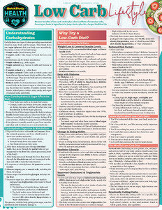 Quick Study QuickStudy Low Carb Lifestyle Laminated Reference Guide BarCharts Publishing Health & Lifestyle Reference Cover Image