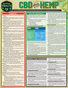 Quick Study QuickStudy CBD & Hemp Laminated Reference Guide BarCharts Publishing Health Education Guide Cover Image