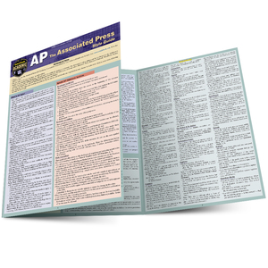 Quick Study QuickStudy AP Associated Press Style Guide Laminated Study Guide BarCharts Publishing Language Arts Reference Main Image