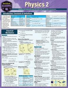 Quick Study QuickStudy Physics 2 Laminated Study Guide BarCharts Publishing Science Reference Cover Image
