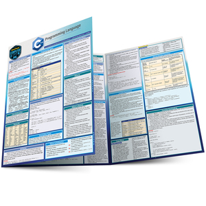 Quick Study QuickStudy C++ Programming Language Laminated Study Guide BarCharts Publishing Computer Education Reference Main Image