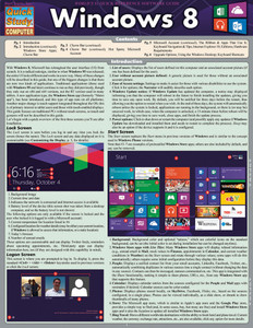 QuickStudy Windows 8 Laminated Reference Guide