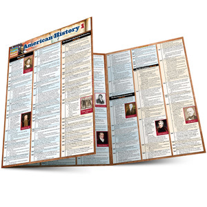 QuickStudy Quick Study American History 1 Laminated Study Guide BarCharts Publishing History Guide Main Image