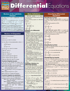 Quick Study QuickStudy Differential Equations Laminated Study Guide BarCharts Publishing Math Guide Cover Image