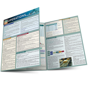 Quick Study QuickStudy Operations Management Laminated Reference Guide BarCharts Publishing Business Leadership Reference Main Image