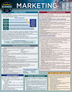 Quick Study QuickStudy Marketing Laminated Reference Guide BarCharts Publishing Business Education Guide Cover Image
