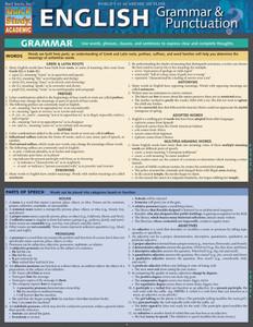 QuickStudy | English: Grammar & Punctuation Laminated Study Guide