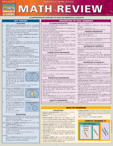 Quick Study QuickStudy Math Review Laminated Study Guide BarCharts Publishing Mathematics Guide Cover Image