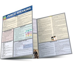 QuickStudy Public Speaking Laminated Study Guide BarCharts Publishing Communication Guide Main Image