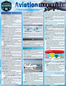 QuickStudy | Aviation Terminology Laminated Study Guide