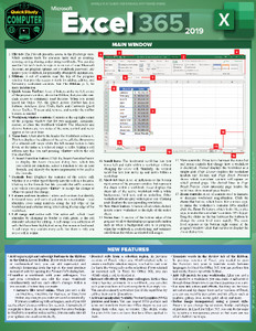 QuickStudy  Quick Study Microsoft Excel 365 Laminated Reference Guide Front Image