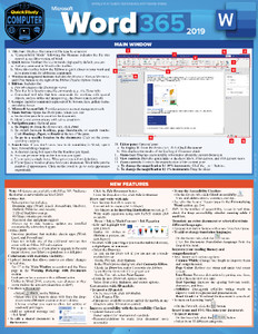 Quick Study QuickStudy Microsoft Word 365: 2019 Laminated Reference Guide BarCharts Publishing Academic/Professional Productivity Software Outline Cover Image