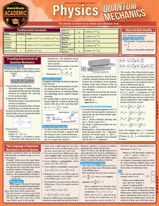 Quick Study QuickStudy Physics: Quantum Mechanics Laminated Study Guide BarCharts Publishing Science Reference Cover Image