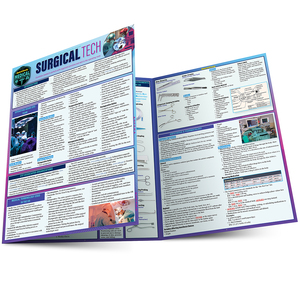 Quick Study QuickStudy Surgical Tech Laminated Study Guide BarCharts Publishing Medical Technician Reference Main Image