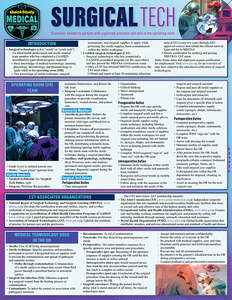 Quick Study QuickStudy Surgical Tech Laminated Study Guide BarCharts Publishing Medical Technician Reference Cover Image