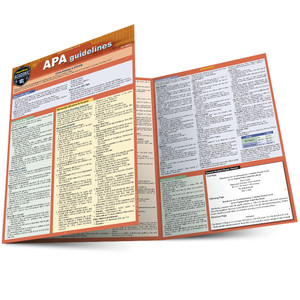 Quick Study QuickStudy APA Guidelines Laminated Study Guide BarCharts Publishing APA Academic Guide Main Image