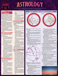 Quick Study QuickStudy Astrology Laminated Reference Guide BarCharts Publishing Health & Lifestyle Reference Cover Image