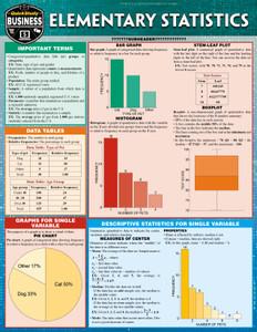 QuickStudy | Elementary Statistics Laminated Study Guide