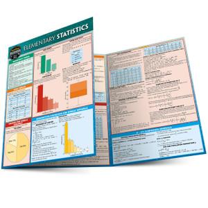 Quick Study QuickStudy Elementary Statistics Laminated Study Guide BarCharts Publishing Mathematic Reference Main Image