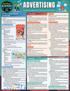 Quick Study QuickStudy Advertising Laminated Reference Guide BarCharts Publishing Career Outline Cover Image