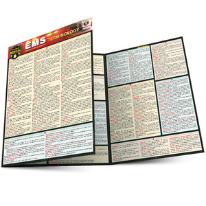 Quick Study QuickStudy Emergency Medical Services (EMS) Terminology Laminated Reference Guide BarCharts Publishing Medical Career Reference Main Image