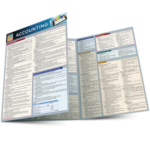 QuickStudy Quick Study Accounting 1 Laminated Study Guide BarCharts Publishing Business Accounting Guide Main Image