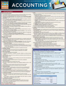 QuickStudy | Accounting 1 Laminated Study Guide