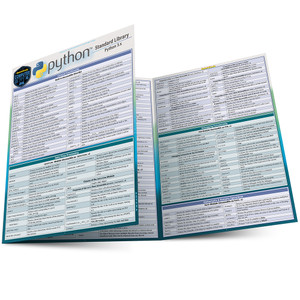 Quick Study QuickStudy Python Standard Library Laminated Reference Guide BarCharts Publishing Computer Programming /Coding Language Outline Main Image