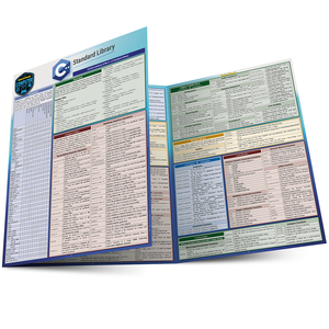 Quick Study QuickStudy C++ Standard Library Laminated Reference Guide BarCharts Publishing Computer Education Reference Main Image