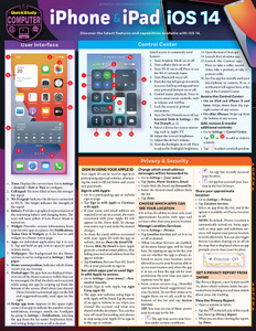 QuickStudy | iPhone & iPad iOS 14 Laminated Reference Guide