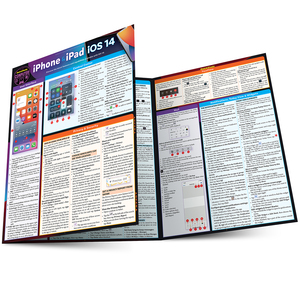 Quick Study QuickStudy iPhone & iPad iOS 14 Laminated Reference Guide BarCharts Publishing Mobile Operating System Reference Main Image