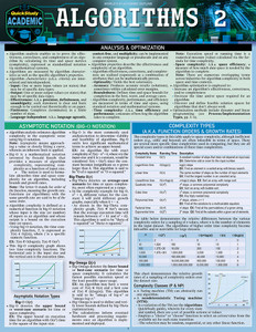 QuickStudy   Algorithms 2 Laminated Reference Guide