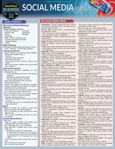 Quick Study QuickStudy Social Media Marketing Laminated Study Guide BarCharts Publishing Business Cover Image