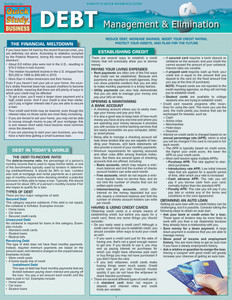 QuickStudy | Debt Management & Elimination Laminated Reference Guide