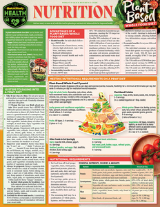 Quick Study QuickStudy Nutrition: Plant-Based Whole Food Diet Laminated Reference Guide BarCharts Publishing Health & Lifestyle Reference Cover Image