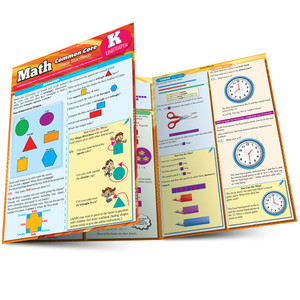 Quick Study QuickStudy Math: Common Core For Kindergarten Laminated Study Guide BarCharts Publishing Education Reference Guide Main Image
