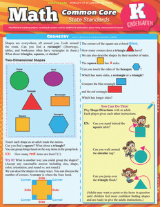 Quick Study QuickStudy Math: Common Core For Kindergarten Laminated Study Guide BarCharts Publishing Education Reference Guide Cover Image