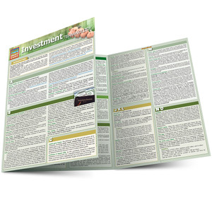 Quick Study QuickStudy Investment Terminology Laminated Study Guide BarCharts Publishing Reference Main Image