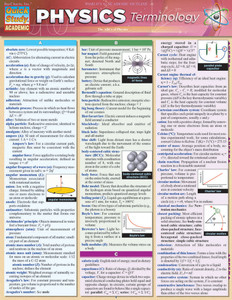 QuickStudy | Physics Terminology Laminated Study Guide